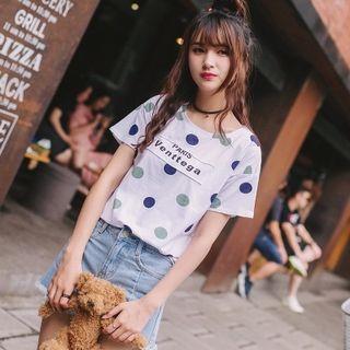 Dotted Short-sleeve T-shirt