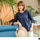 Tie-sleeve Lace Panel Top