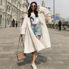 Hooded Light Trench Jacket