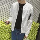 Paneled Zip Baseball Jacket