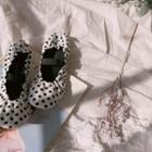 Polka-dot Mary Jane Flats