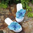 Flower Platform Slide Sandals