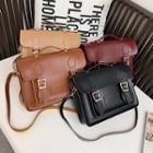Faux Leather Satchel Crossbody Bag