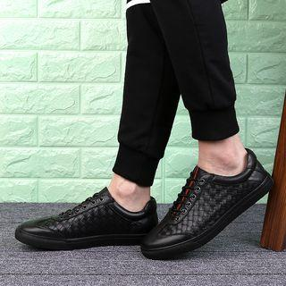 Genuine Leather Weave Oxfords