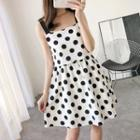 Mock Two-piece Dotted Sleeveless Dress