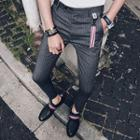 Slim-fit Stripe Cropped Pants
