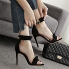 Ankle Strap Frilled Trim Sandals