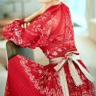 Accordion Chiffon Dress
