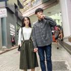 Couple Matching Plaid Skirt / Shirt