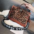 Letter Strap Leopard Crossbody Bag