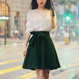 Bow-tied A-line Skirt