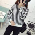 Frilled Striped Sweater