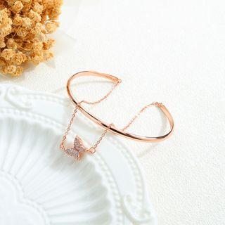 Rhinestone Butterfly Bracelet 550 - One Size