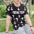 Printed Letter Short-sleeve T-shirt