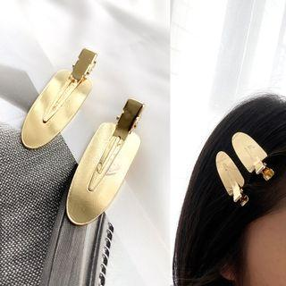 Polished Alloy Hair Clip 1 Pc - Wfj-001 - One Size