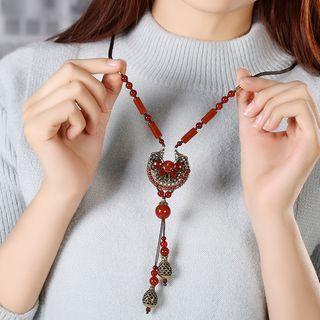 Agate Necklace 1 Pair - Rope - Perimeter: 85cm