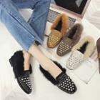 Studded Fleece-lined Loafers
