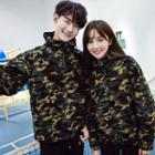 Couple Matching Camouflage Hooded Jacket