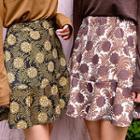 A-line Patterned Mini Skirt