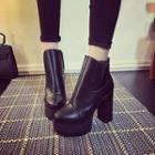 Platform High Heel Short Boots