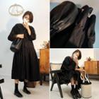 V-neck Shirred Maxi Dress