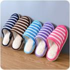 Stripe Furry Slippers