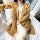 Long-sleeve Furry Long Cardigan