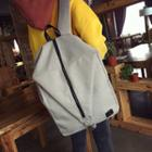 Zip Through Canvas Backpack