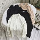 Long-sleeve Plain Casual Shirt