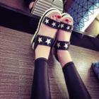 Star Accent Platform Sandals