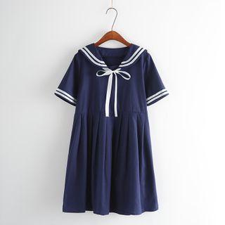 Short-sleeved Sailor Dress