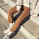 Straight-cut Napped Pants
