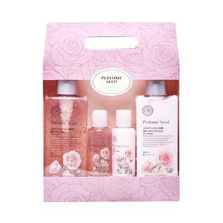 The Face Shop - Perfume Seed Velvet Special Body Set: Capsule Body Wash 300ml + 60ml + Body Milk 300ml + 60ml 4pcs