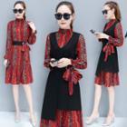 Set: Chiffon Shirtdress + Sleeveless Dress