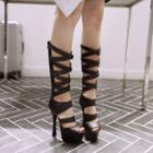 Strappy Platform Chunky-heel Sandals