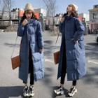 Padded Hooded Zip-up Midi Coat