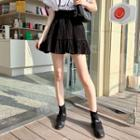 Fill-hem Crinkled Miniskirt