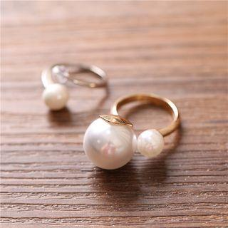 Wedding Pearl Open Ring