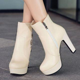 High-heel Platform Short Boots