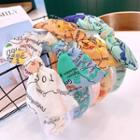 Map Printed Hair Band (various Colors)