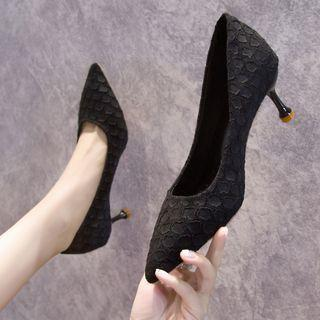 Pointy Dotted High Heel Pumps