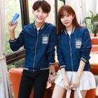 Lettering Zip Couple Matching Jacket