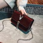 Fringed Chain Strap Shoulder Bag