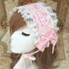 Lace Trim Bow Hair Band