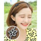 Rhinestone Flower Slim Hair Band