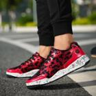 Lace Up Print Sneakers