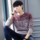 Gradient Melange Knit Sweater