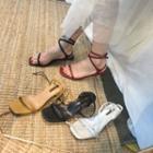 Kitten Heel Gladiator Sandals