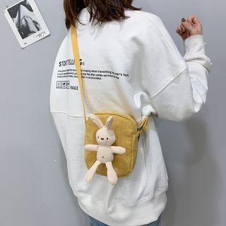 Rabbit Doll Corduroy Crossbody Bag