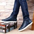 Genuine-leather Zip Sneakers